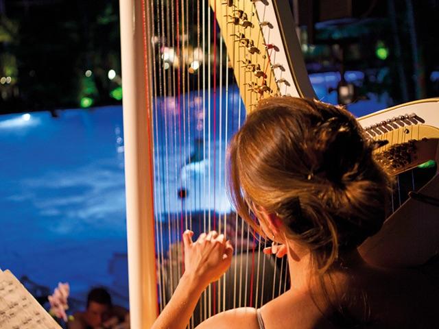 Des sons de harpe live à 17h00 / 19h00 / 21h45